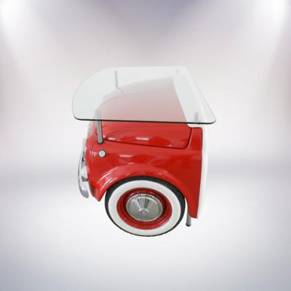 matera scrivania fiat 500 vernice rossa lato sinistro alto pelle bianca palermo design arredo ufficio casa pisticci matera basilicata
