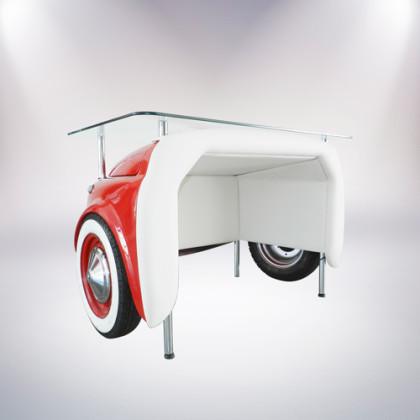 matera scrivania fiat 500 vernice rossa retro 2 pelle bianca palermo design arredo ufficio casa pisticci matera basilicata