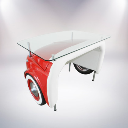 matera scrivania fiat 500 vernice rossa retro alto pelle bianca palermo design arredo ufficio casa pisticci matera basilicata