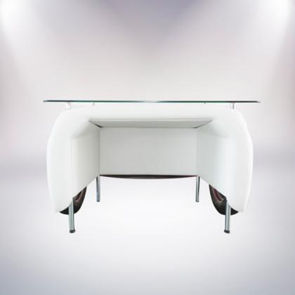 matera scrivania fiat 500 vernice rossa retro pelle bianca palermo design arredo ufficio casa pisticci matera basilicata