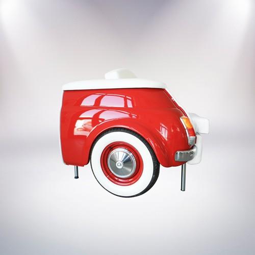 milano divano rosso a due posti fiat 500 vernice rossa rivestimento pelle bianca fronte lato 3 palermo design arredo pisticci matera basilicata
